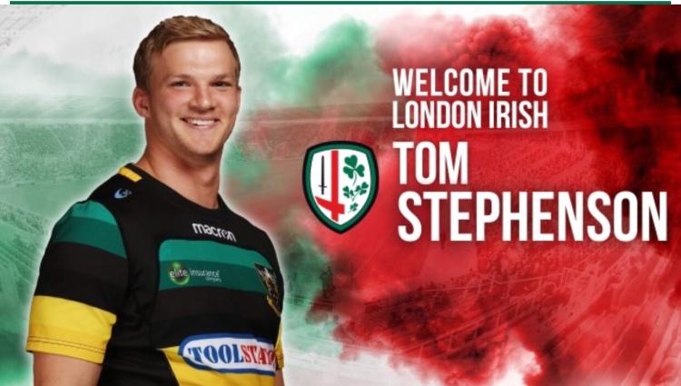 London Irish new signing Tom Stephenson